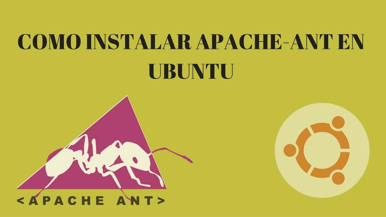Cómo instalar apache-ant manualmente en linux - YouTube
