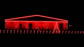Techneaux Christmas Light Show - Christmas in Hollis Run DMC
