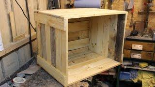 Couchtisch selber bauen // Palettenholz-couchtisch