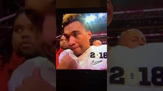 Alabama's Tua Tagovailoa post game interview after National Championship win.