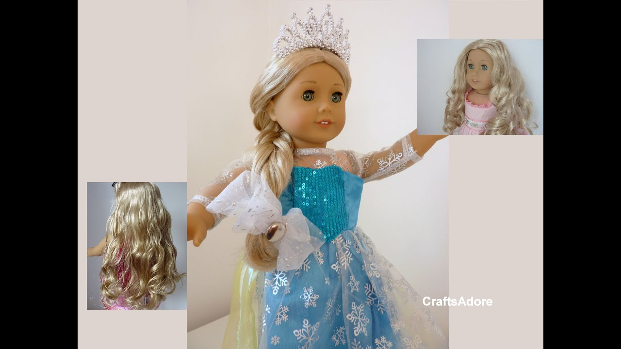 American Girl Doll Disney Hairstyles : Caroline american girl doll hair straightened to be disney