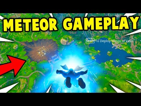 *NEW* METEOR CRASH GAMEPLAY! DUSTY DEPOT/DIVOT DESTROYED GAMEPLAY! (Fortnite New Season 4)