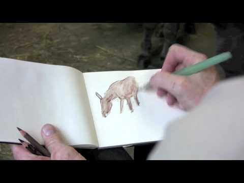 James Gurney shows how he sketches animals