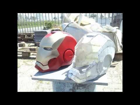 Iron Man MK 3 helmet pepakura tutorial
