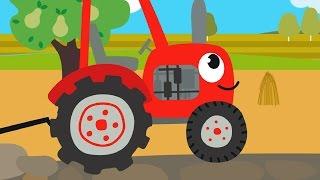 Download Друзья Животные - Веселая обучающая песенка для детей, малышей - Трактор едет в гости к друзьям Mp3 and Videos