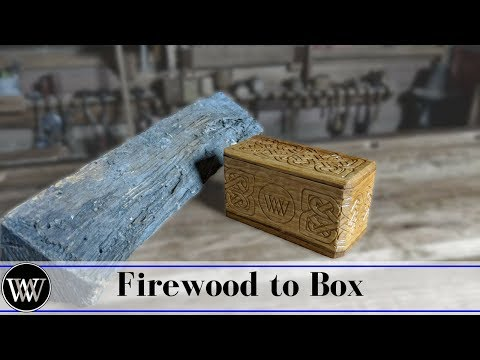 Making a Box From Firewood With Hand Tools