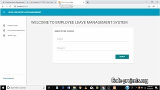 Employee leave management system using php with source code download the project from link below https://code-projects.org/employee-leave-management-site...