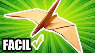 Como hacer Dinosaurios  PTERANODON Estilo JURASSIC WORLD | Figuras de papel (Muy facil) Origami