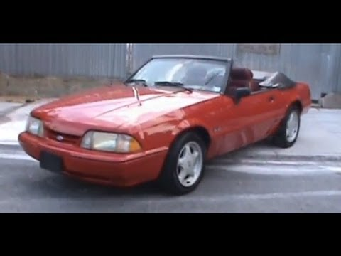 1989 Ford Mustang 5 0 Lx Convertible