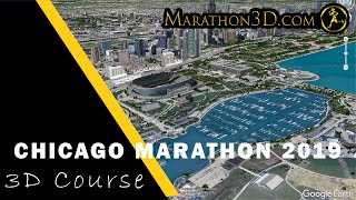 CHICAGO MARATHON 2019: 3D Course