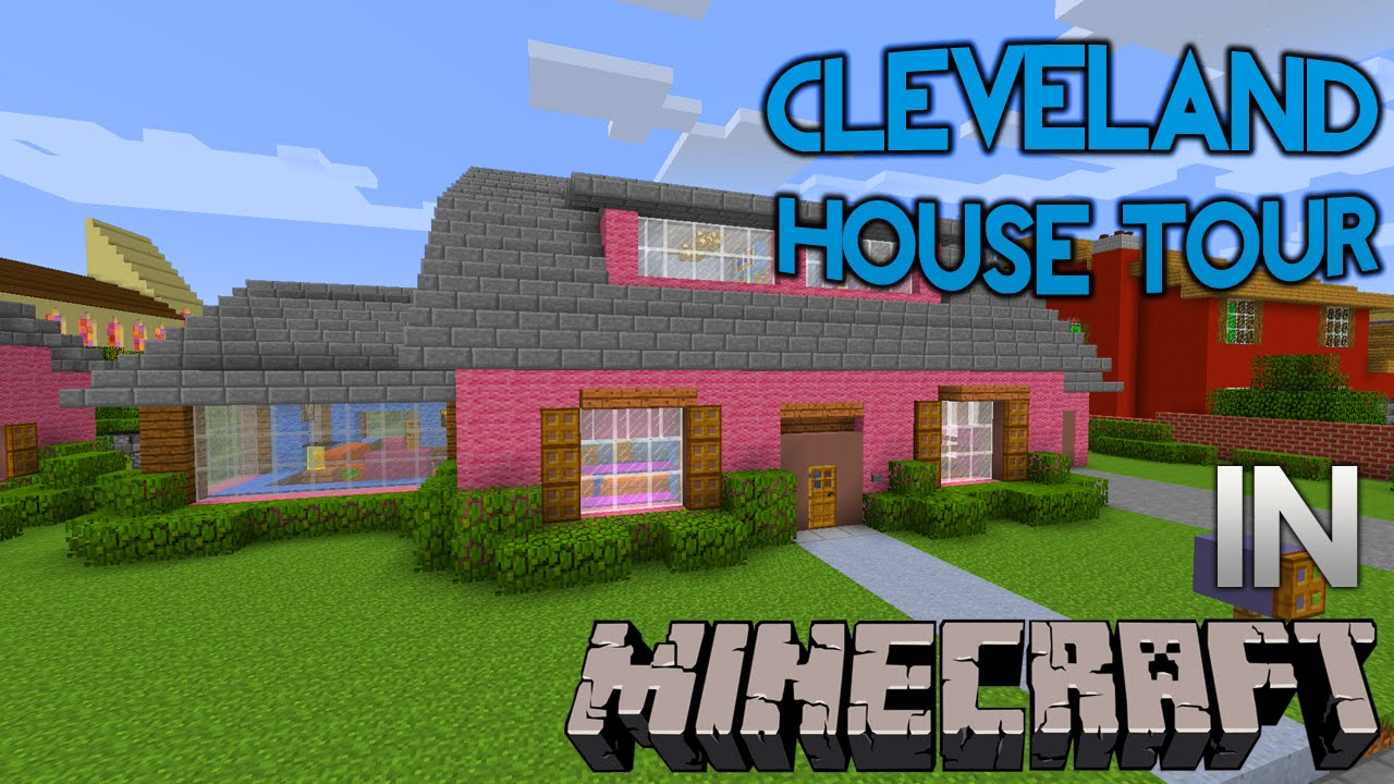 Minecraft family guy cleveland brown quahog house tour for Video home tours