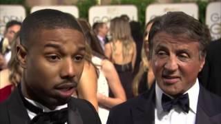 GOLDEN GLOBES 2016 - Intervista a Sylvester Stallone e Michael B. Jordan per CREED