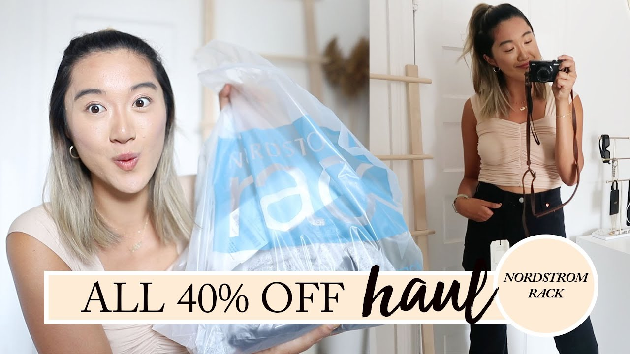 NORDSTROM RACK HAD A HUGE SALE: Haul & Try On