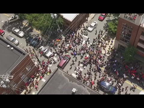 Drone captures Charlottesville car attack on camera