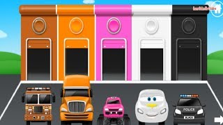 Colors for Children to Learn with Color Car Toy in garage - Colours for Kids to Learn