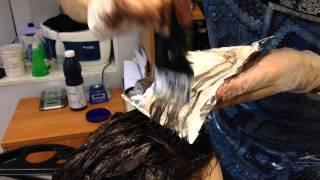 видео мелирование на окрашенные темные волосы