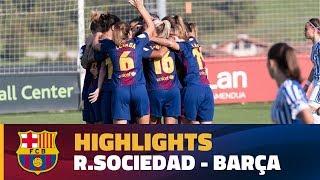 [HIGHLIGHTS] FUTBOL FEM (Liga): Real Sociedad - FC Barcelona (0-1)