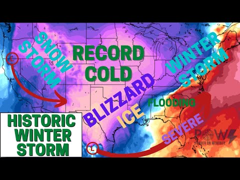 Historic Winter Storm! Record Cold, Blizzard Conditions & Ice Storm! - POW Weather Channel