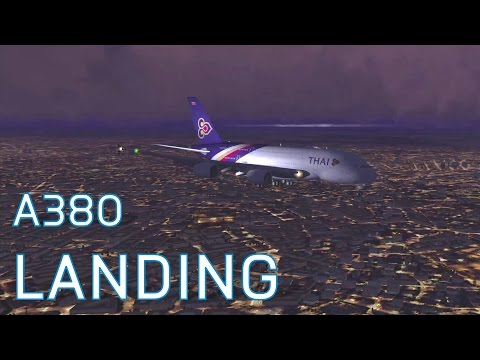 FSX Thai Airways A380-800 | Landing at Bangkok