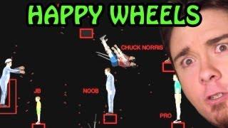 Happy Wheels | DeiGamer VS. El NOOB, El PRO y Chuck Norris