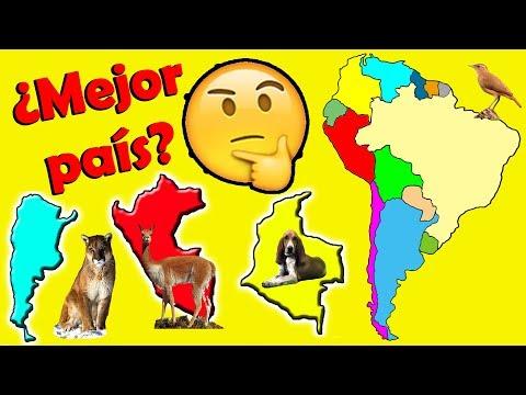 """Conociendo Sudamérica en """"10 Rankings"""", Records Naturales y Animales Emblemáticos de cada País..."""