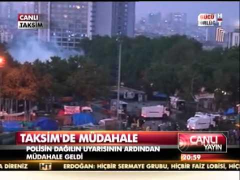 Taksimde Gezi Parkı Eylemcilerine Dağıtıldı