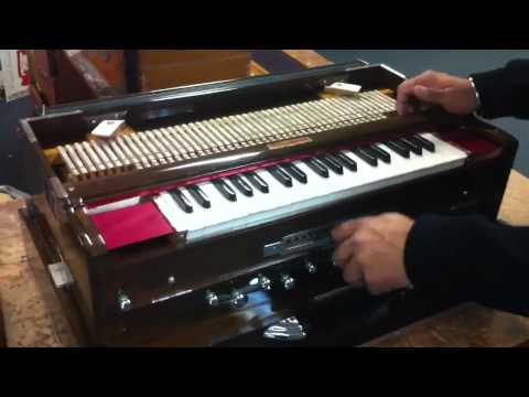 Harmonium BINA no  32 with 4 sets English reeds - YouTube