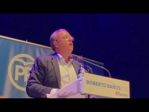 Roberto Banos.Ja Monago Presenta Al Candidato A La Alcaldia De Talayuela