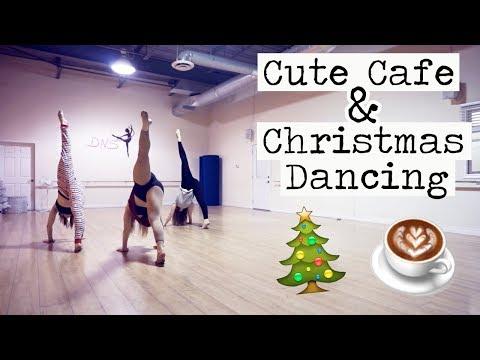 CUTE CAFE & CHRISTMAS DANCING! || Vlogmas Day 12