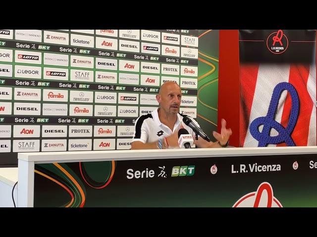 CALCIO - Il post gara di Domenica Di Carlo, LR Vicenza vs Cagliari (Amichevole)