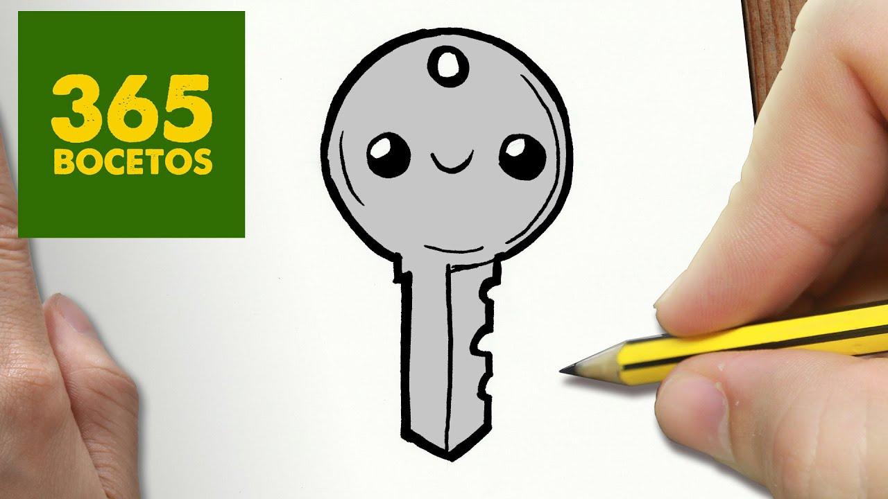 Como dibujar llave kawaii paso a paso dibujos kawaii for Imagenes de llaves de agua