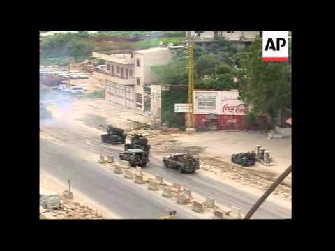 Lebanese troops shelling Nahr el-Bared refugee camp