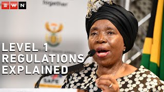 Minister of Cooperative Governance and Traditional Affairs Nkosazana Dlamini-Zuma addressed the media in a briefing outlining the regulations of alert level 1 lockdown