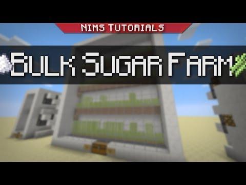 Minecraft: Tutorial   Bulk Sugarcane Farm