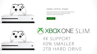 NEW Xbox One Slim (4K Support, 2TB Hard Drive, 40% Smaller)
