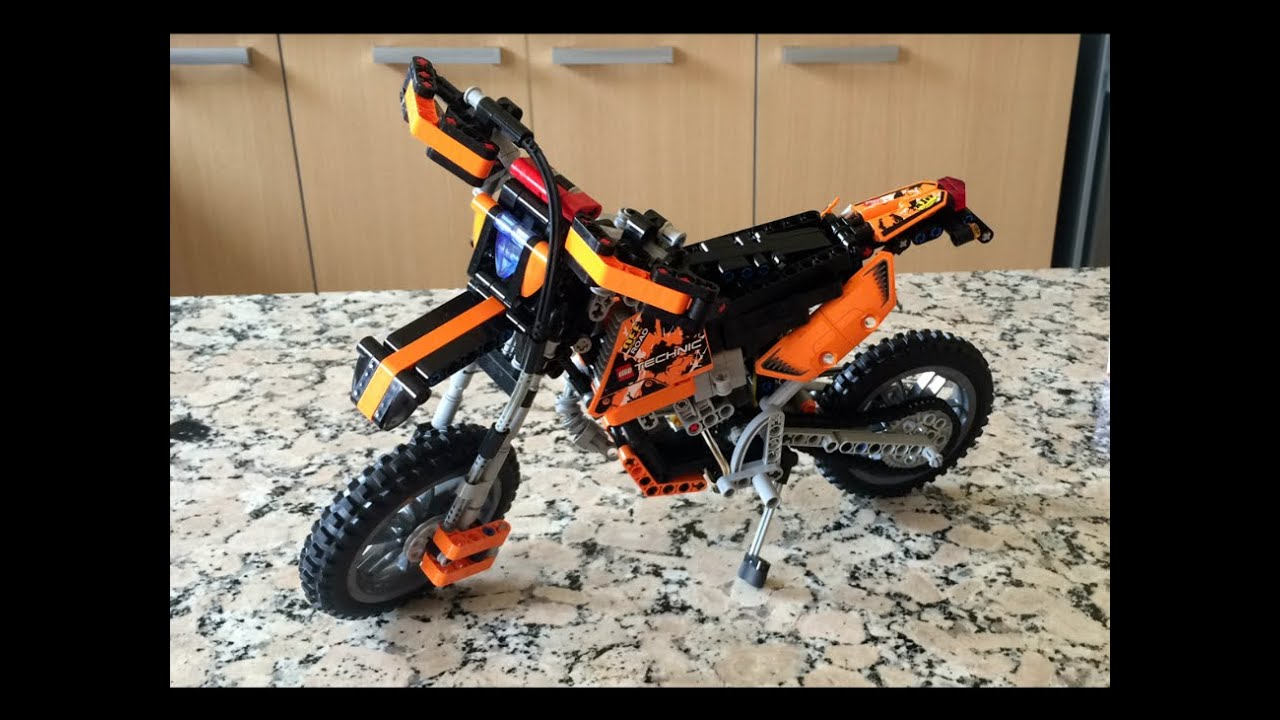 moto de lego technic ktm exc 250 2t youtube. Black Bedroom Furniture Sets. Home Design Ideas
