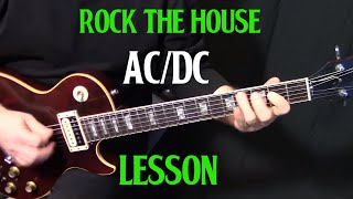 "how to play ""Rock the House"" by AC/DC on guitar - rhythm guitar lesson"