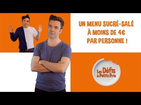Menu sucré-salé à 4€ - Défis à Petits Prix