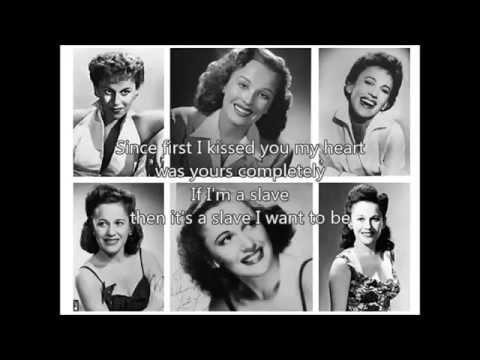 GEORGIA GIBBS - The Kiss Of Fire(1952)with lyrics