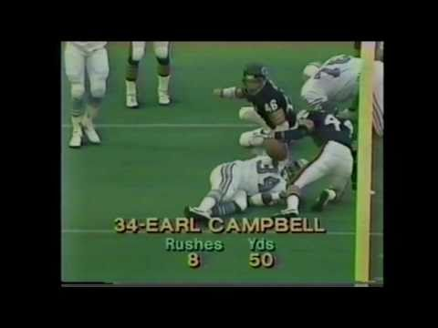 MONSTER HIT -- Doug Plank stops Earl Campbell cold....