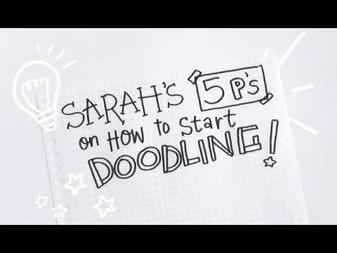 Tips on How to Doodle (Inspirational & Motivational Advice)   Doodles by Sarah