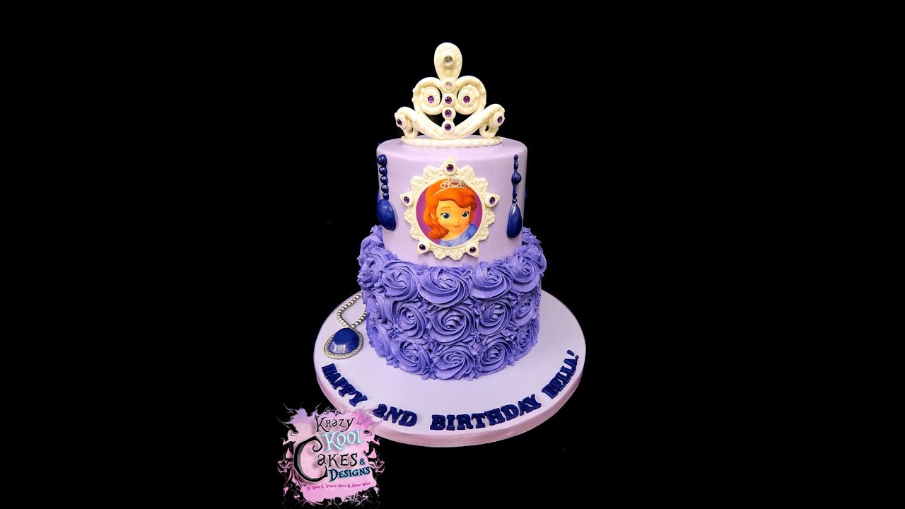 Cake Images Of Sofia The First : Sofia the First Birthday Cake - YouTube