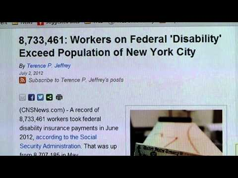 8,733,461: Workers on Federal 'Disability' Exceed Population of New York City
