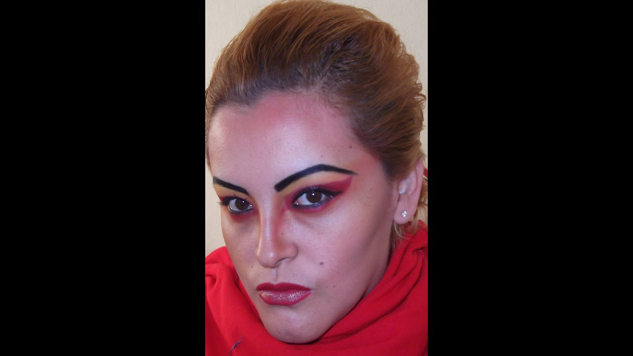 serie halloween 1 maquillaje de diabla