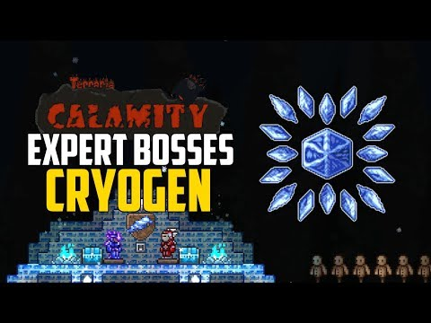 Terraria EXPERT CRYOGEN GUIDE! | CALAMITY MOD | Expert Boss Tips & Tricks  Battle Guide! | PC - Смотреть видео