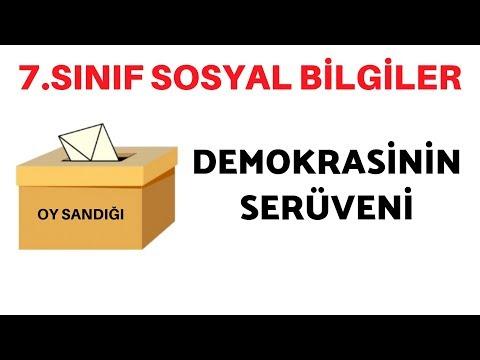 7.SINIF SOSYAL BİLGİLER DEMOKRASİNİN SERÜVENİ