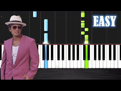 Mark Ronson  Uptown Funk ft Bruno Mars  EASY Piano Tutorial  PlutaX  Synthesia