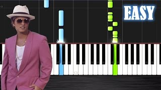 Mark Ronson - Uptown Funk ft. Bruno Mars - EASY Piano Tutorial by PlutaX - Synthesia