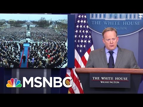 Fact Checking White House Press Secretary Sean Spicer's Inauguration Numbers | MSNBC