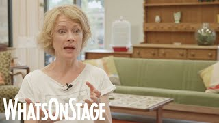 Claire Skinner, Toby Stephens and Patricia Hodge in rehearsals for A Day in the Death of Joe Egg